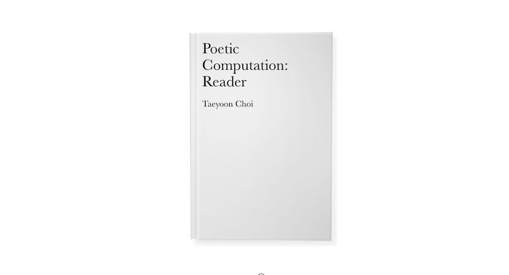 Poetic Computation: Reader | Data & Society