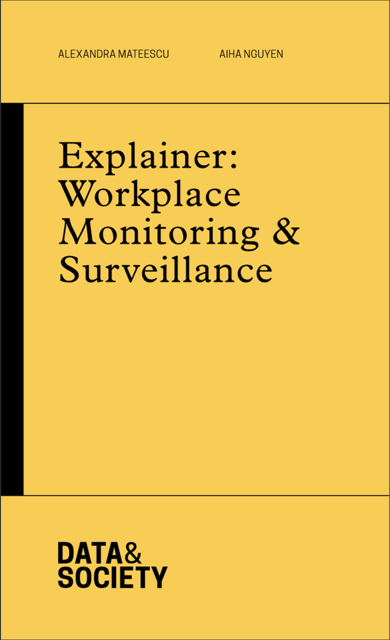 cover for report with yellow background and black type