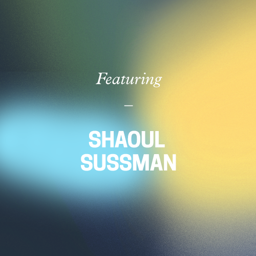 featuring shaoul sussman. gradient background