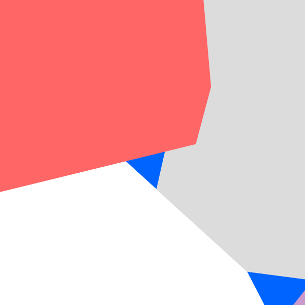 red, white, blue, grey color chunks overlapping