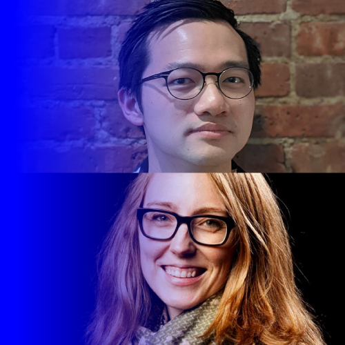 Moira Weigel and Tim Hwang's headshots stacked on top of each other