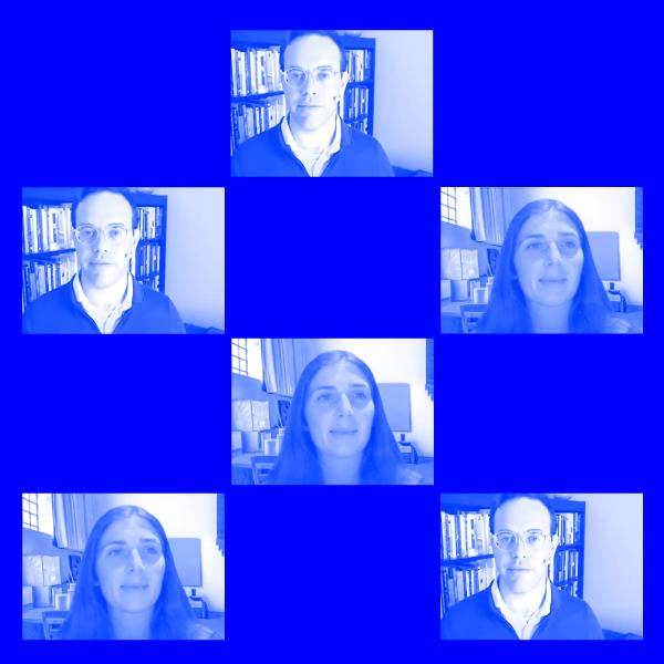 blue shaded, tiled image of David Robinson & Alex Rosenblat