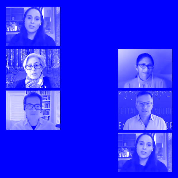 collage of screenshots of Robyn Caplan, Lucy Bernholz, Rob Reich, Archon Fung, and Seeta Peña Gangadharan