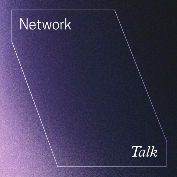 Network Talk. Purple gradient